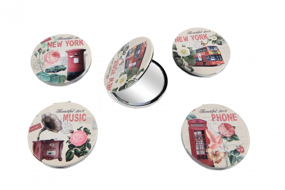 9c5668a22c Καθρεφτάκι τσάντας διπλής όψεως τετραγωνο σχέδια - RO accessories