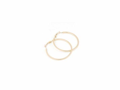 Σκουλαρίκι Κρίκος Τετραγωνισμένος Χρυσός 50mm