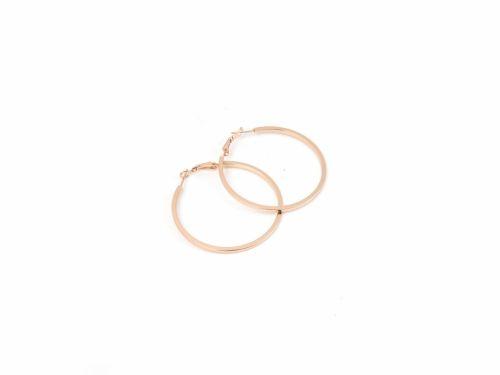 Σκουλαρίκι Κρίκος Τετραγωνισμένος Rose Gold 50mm