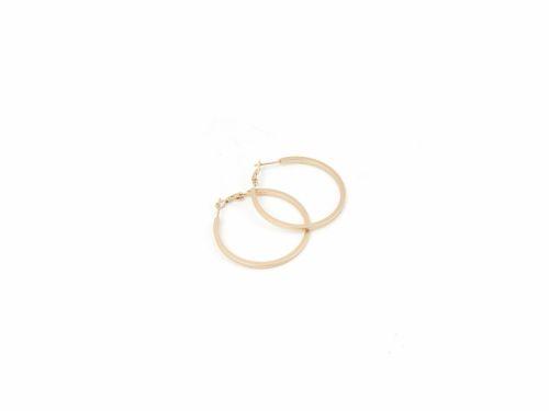 Σκουλαρίκι Κρίκος Ματ Χρυσός 40mm