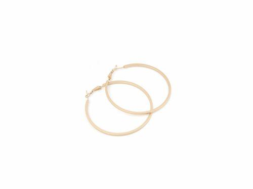 Σκουλαρίκι Κρίκος Ματ Χρυσός 60mm