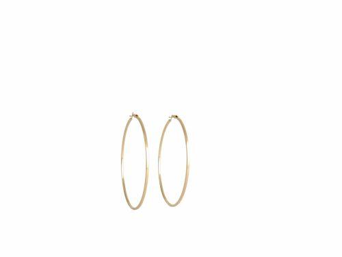 Κρίκος Τετραγωνισμένος Χρυσός  40mm
