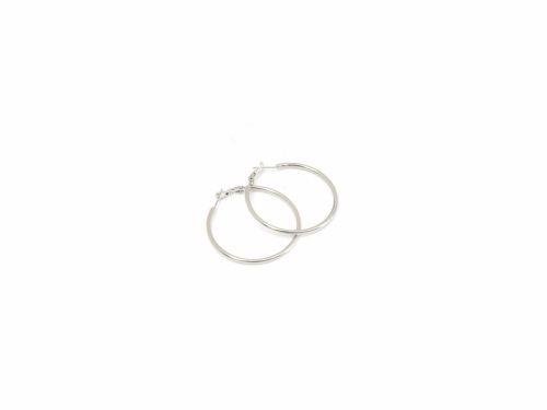 Σκουλαρίκι Κρίκος Ασημί 40mm
