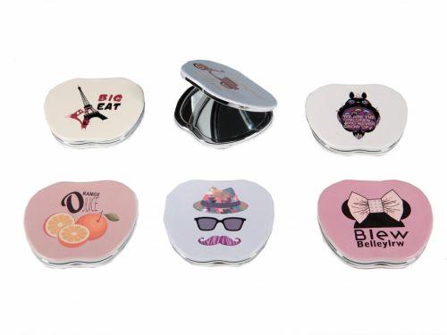 c36427858e Καθρεφτάκι τσάντας διπλής όψεως σχήμα μήλο διάφορα σχέδια - RO accessories