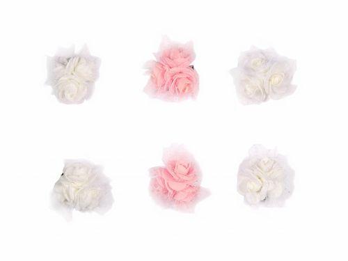Κλιπ  για παρανυφάκια Λουλούδι-Τούλι