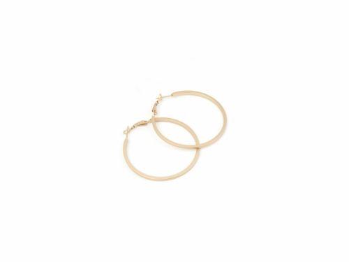Σκουλαρίκι Κρίκος Ματ Χρυσός 50mm