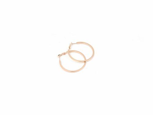 Σκουλαρίκι Κρίκος Τετραγωνισμένος Rose Gold 40mm