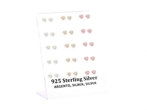 Σκουλαρίκι αυτιού Ασήμι 925 στρας ασημί/χρυσό/rosegold