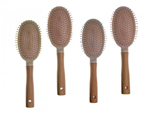 Βούρτσα Μαλλιών με Ξύλο σε 4 αποχρώσεις