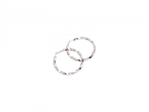 Σκουλαρίκι Κρίκος Ασημί 60 mm