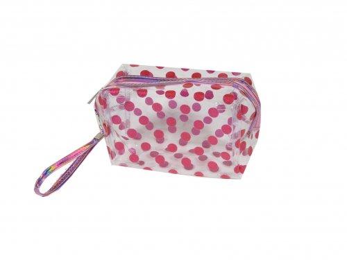 Cosmetic Bag dots Pink