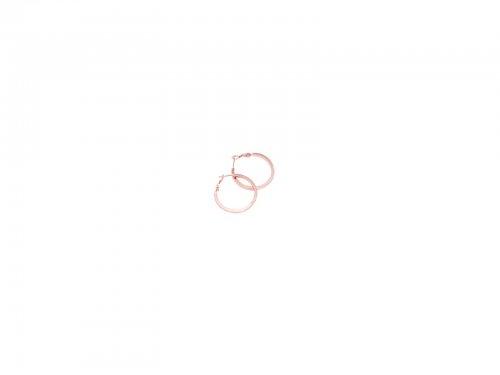 Σκουλαρίκι Κρίκος Τετραγωνισμένος Rose gold 20 mm