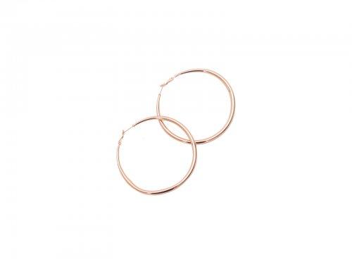 Σκουλαρίκι Κρίκος Rose gold 70 mm