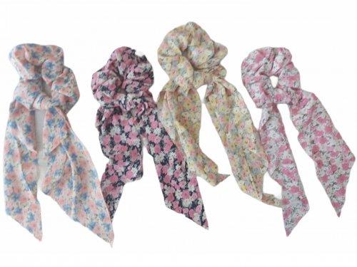 Σούρα μαλλιών  μαντήλι floral 20 cm
