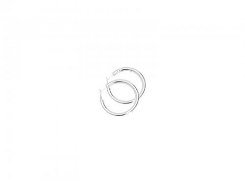 Σκουλαρίκι Κρίκος Ασημί 50 mm