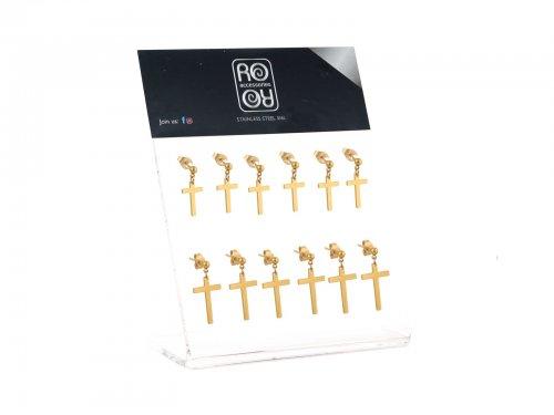 Σκουλαρίκι αυτιού Stainless Steel χρυσό  design