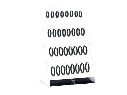 Σκουλαρίκι Κρίκος αυτιού Stainless Steel μαύρο 2*9/12/14/16 mm