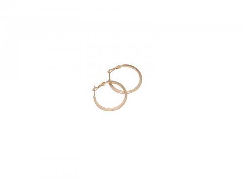 Σκουλαρίκι Κρίκος Τετραγωνισμένος Χρυσός 20 mm