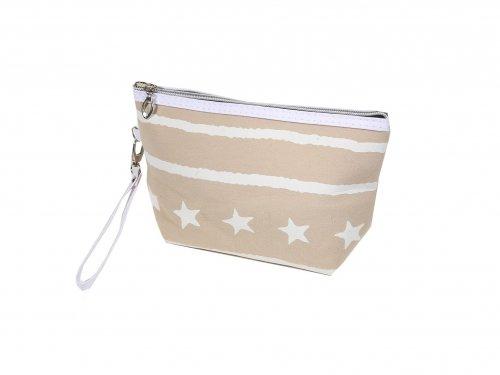 Cosmetic Bag Ecru with Stars
