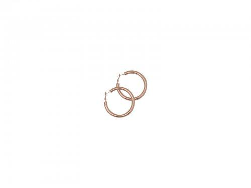 Σκουλαρίκι Κρίκος Rosegold 50 mm