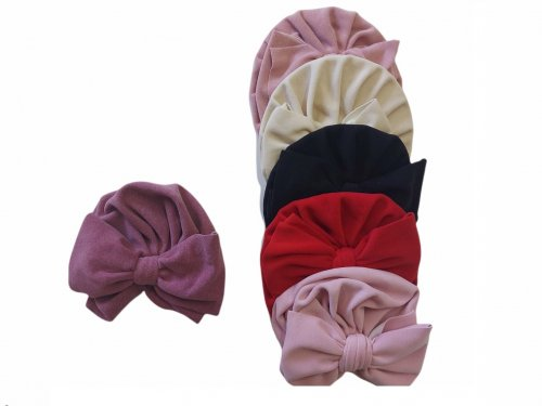 Παιδικό καπέλο τουρμπάνι με φιόγκο