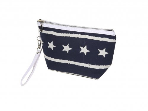 Cosmetic Bag Blue with Stars