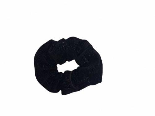 Σούρα μαλλιών βελουτέ μαύρη