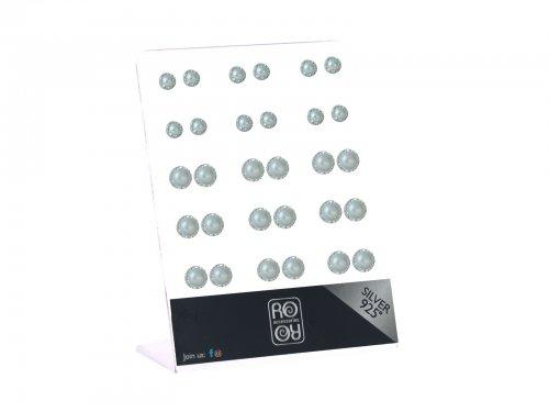 Σκουλαρίκι αυτιού Ασήμι 925 Rhodium plated