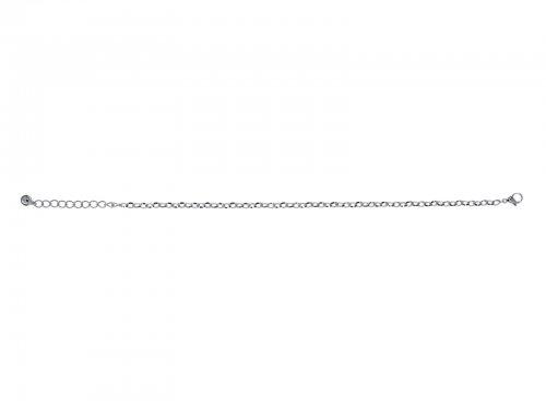 Αλυσίδα ποδιού Stainless Steel ασημί