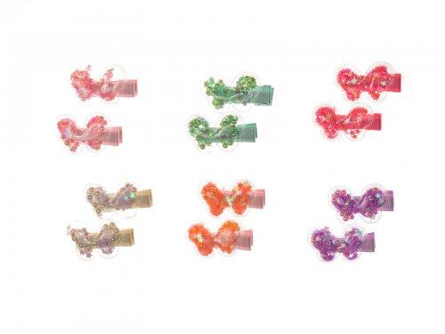 Παιδικό κλιπ μαλλιών πεταλούδα σετ 2 τεμ