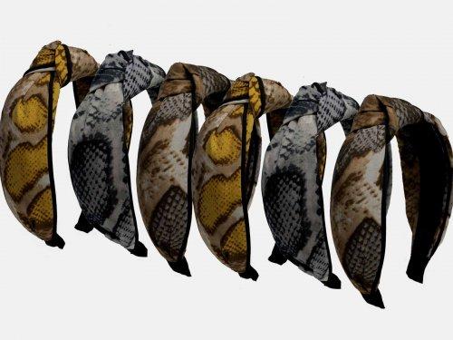 Στέκα μαλλιών snake print