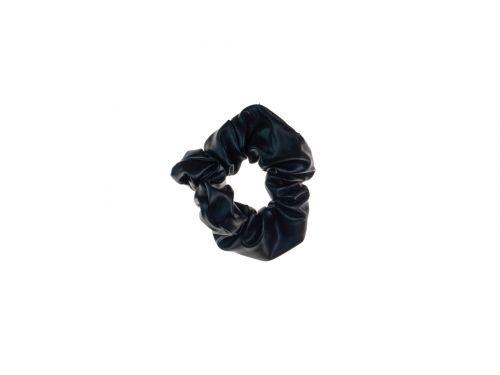 Σούρα μαλλιών μαύρη  Δερματίνη