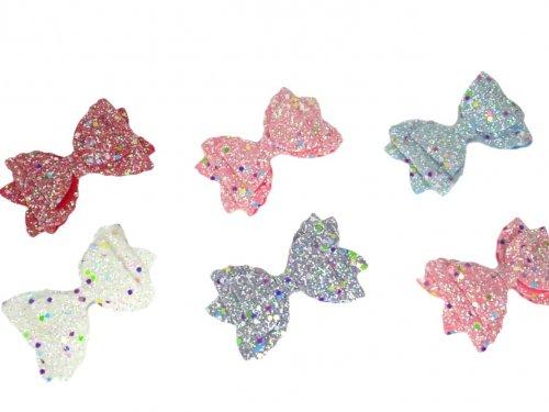 Παιδικό κλιπ μαλλιών glitter φιόγκος