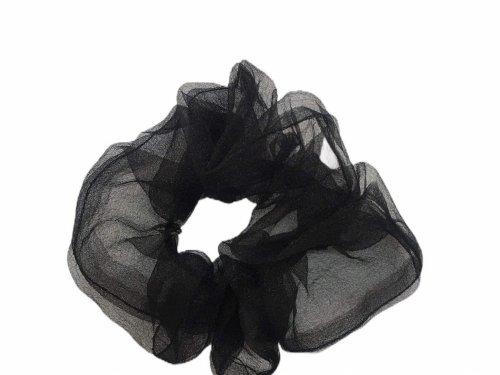 Σούρα μαλλιών μαύρη οργάντζα