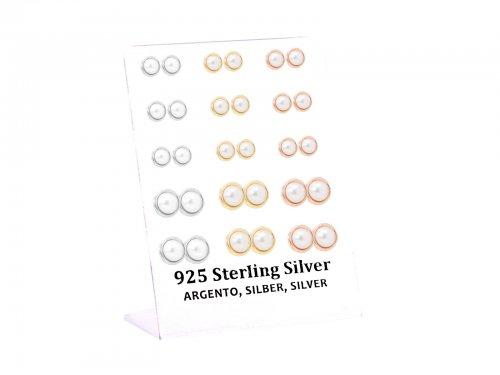 Σκουλαρίκι αυτιού Ασήμι 925 πέρλα ασημί/χρυσό/rosegold