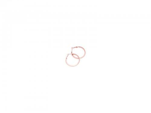 Σκουλαρίκι Κρίκος Τετραγωνισμένος Rose gold 30 mm