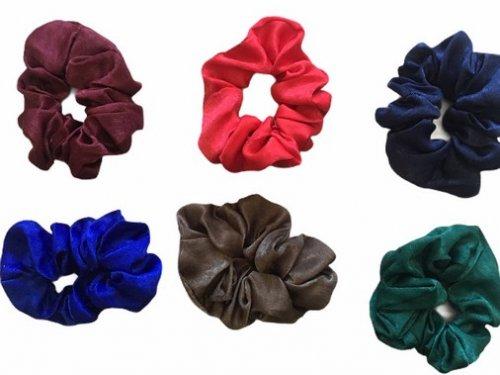 Σούρα μαλλιών σατέν χρώματα