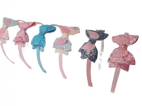 Παιδική στέκα μαλλιών με glitter φιόγκο