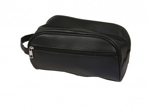 Cosmetic Bag for Men Leatherette, Black