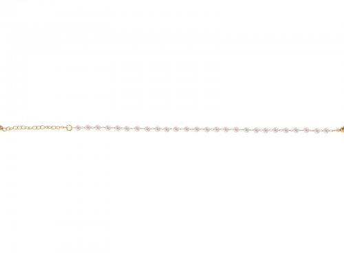 Αλυσίδα ποδιού με πέρλες Stainless Steel χρυσή
