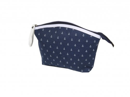 Cosmetic Bag Blue with Anchor