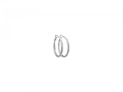 Σκουλαρίκι Κρίκος Ασημί 40 mm