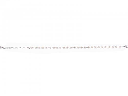 Αλυσίδα ποδιού με πέρλες Stainless Steel ασημί