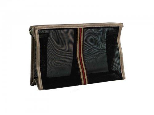 Νεσεσερ διάφανο μαύρο με ρίγα