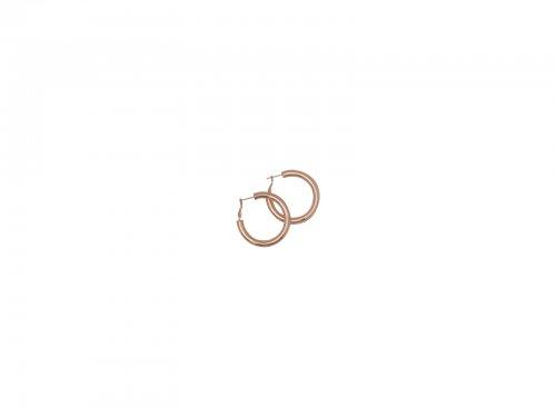 Σκουλαρίκι Κρίκος Rosegold 40 mm