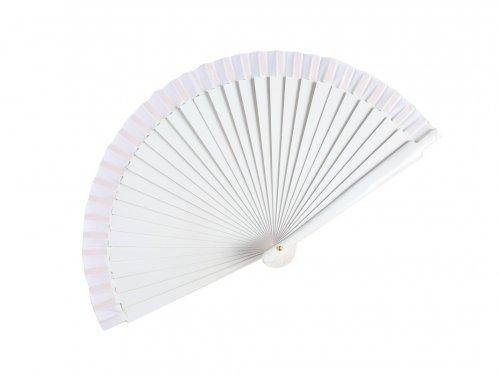 Βεντάλια Λευκή Ξύλινη 23 cm