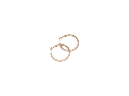 Σκουλαρίκι Κρίκος Τετραγωνισμένος Χρυσός 30 mm