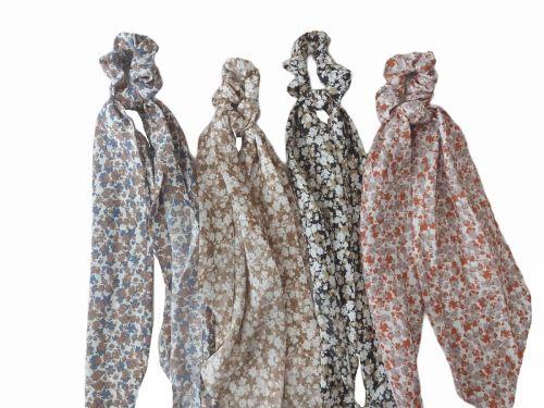 Σούρα μαλλιών μαντήλι floral 45 cm