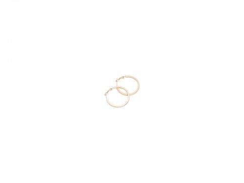 Σκουλαρίκι Κρίκος Τετραγωνισμένος Ματ Χρυσός 30 mm