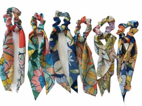 Σούρα μαλλιών  μαντήλι floral 25 cm